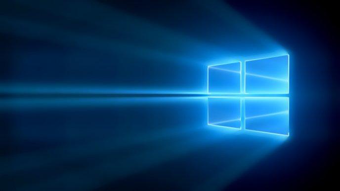 Amazing Windows 10 Logo Blue Light