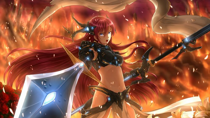 Magurine Luka in fire - Anime character