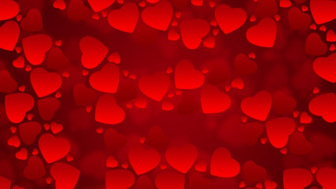 Download Wallpaper Many little red hearts - Valentine's Day