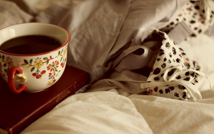 Good morning - special book and delicious tea