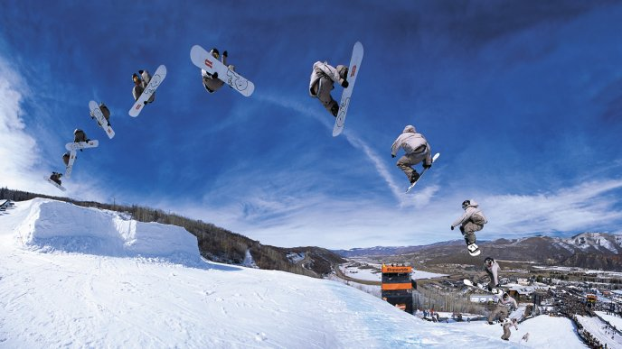 Beautiful Snowboard Jumps Winter Sports