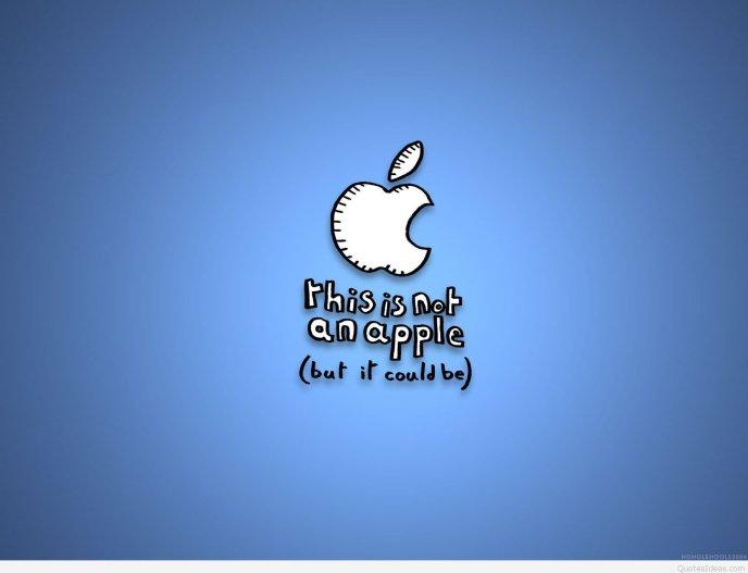 Funny Apple Message Hd Wallpaper
