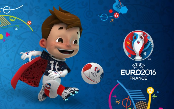 Happy kid - mascot of UEFA Euro 2016 Football games France