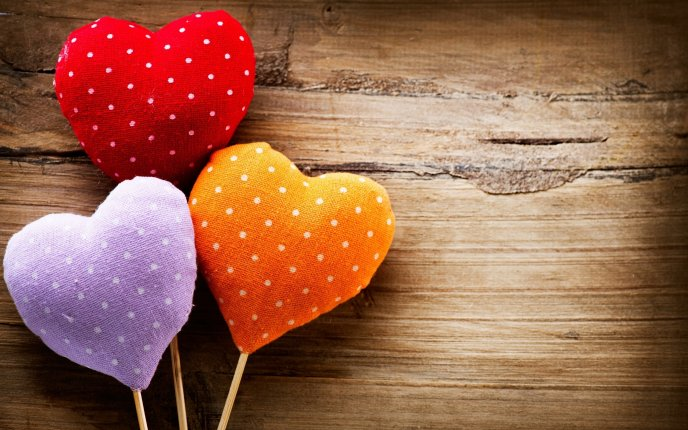 Download Wallpaper Hearts sweet like lollipops - HD wallpaper