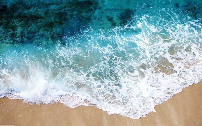 Water Foam At The Seaside Hd Wallpaper
