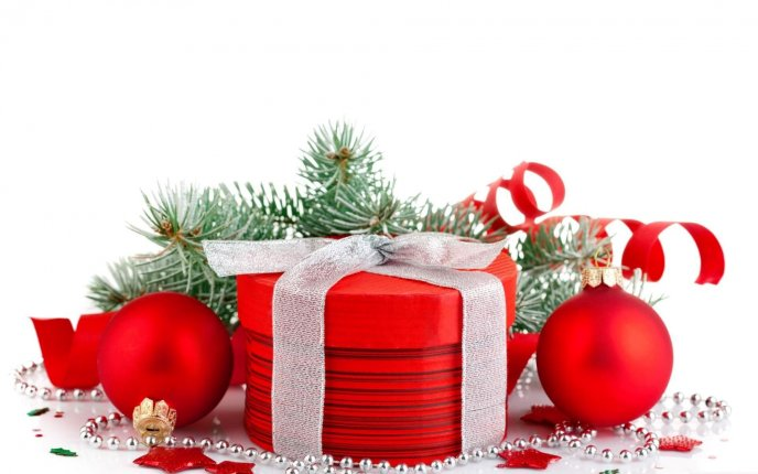 Red box for Christmas gift - Red accessories