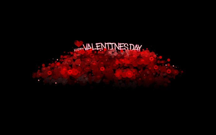 Millions of red hearts on a dark background - Valentines Day
