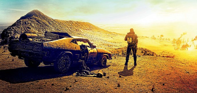 Download Wallpaper Golden light explosion - Fury road teaser car HD wallpaper