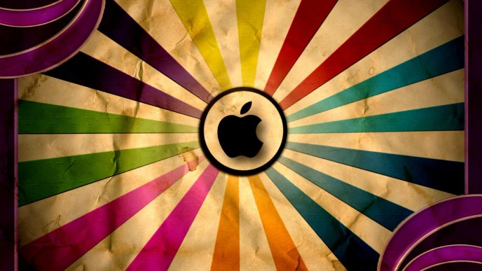 Colorful rainbow for Apple logo - HD creative wallpaper