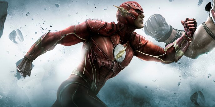 Download Wallpaper The Flash running fast and fight - HD movie wallpaper