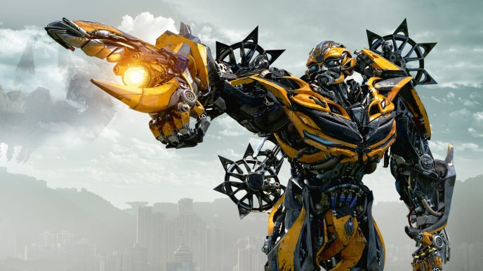 Download Wallpaper Yellow machine from Transformers 2018 - New movie