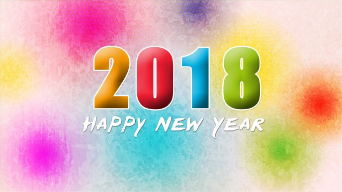 colorful window in background happy new year 2018