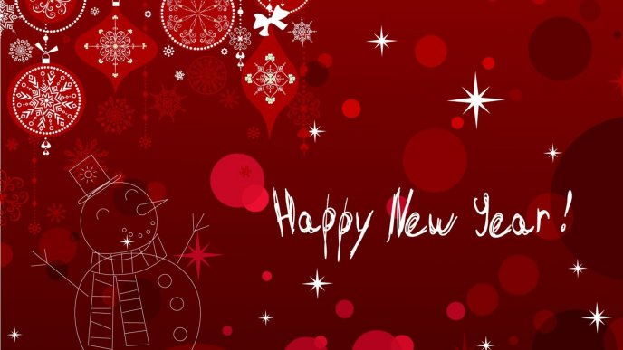 Red Wallpaper Red New Year Background