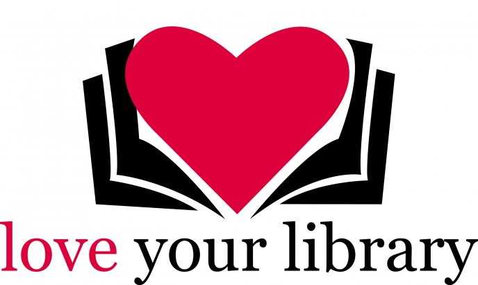 Love your library - The heart is inside the books