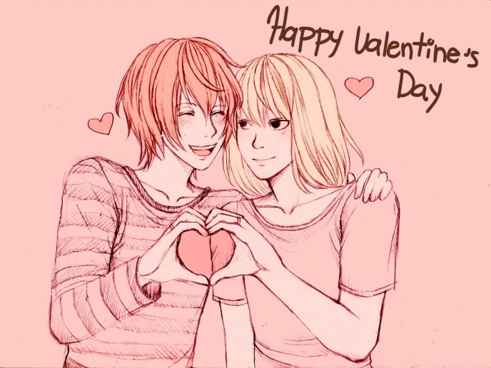Download Wallpaper Two teenagers loving each other - Happy Valentines Day