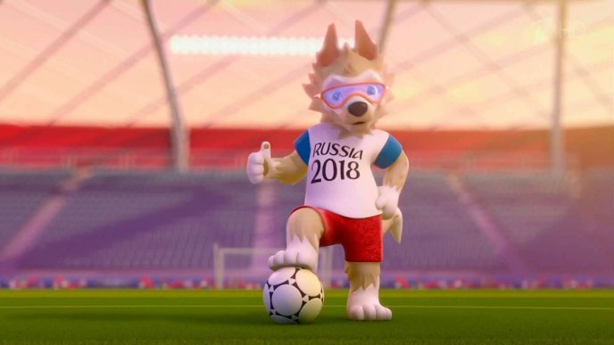 Fox mascot for Fifa World Cup 2018 Russia