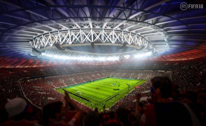 Fifa world cup 2018 Russia football field - HD wallpaper