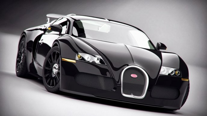 Wonderful dark bugati luxury car - HD wallpaper