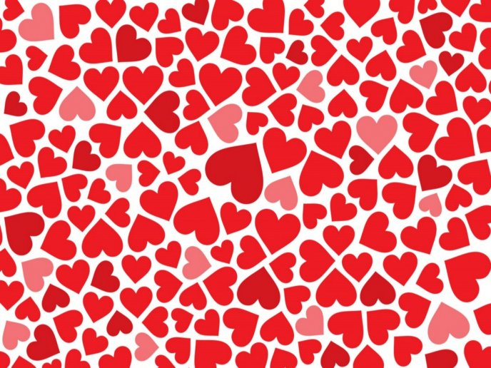Million of hearts on a full background -Happy Valentines Day