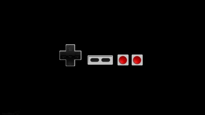 Nintendo controller for computer games - HD wallpaper dark