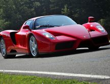 Red Ferrari Enzo on road
