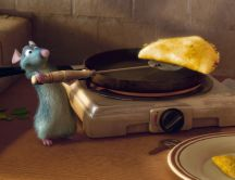 Ratatouille making omelette