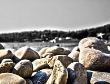 Beach Pebbles near Dubrovnic, Croatia - HD Wallpaper