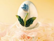 Flower decorated egg