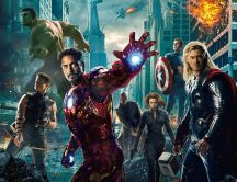 The Avengers team HD wallpaper