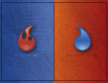 Fire versus Water, blue versus orange