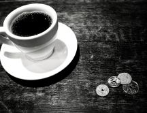 Coffee time - black and white morning