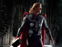 Chris Hemsworth as Thor in Thor movie