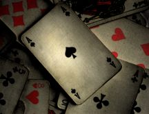 Poker game - Ace of Spades HD wallpaper