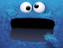 Cookie monster blue eye fun monster