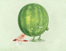 Funny watermelon - cartoons wallpapers