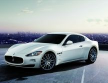 White Maserati grand turismo - beautiful sport car