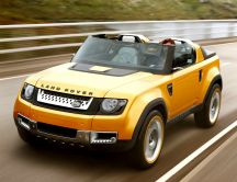 Land Rover DC100 - Yellow sports car