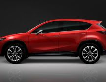 Mazda CX5 - beautiful red SUV car