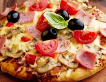 Delicious pizza - good appetite