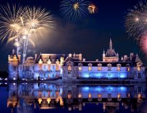 Castle - fireworks HD wallpaper