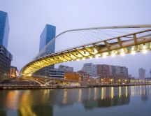 Bilbao bridge - wonderful architecture