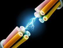 Electric wires in action HD wallpaper