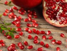 Pomegranate - delicious red fruit