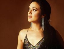 Preity Zinta - female actress with big crystal earrings