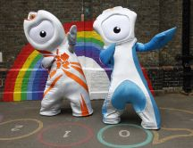 Olympic games London 2012 - funny Olympic mascots