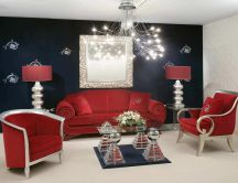 Luxury room - red furniture