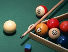 Let's play billiard - billiard balls on the table