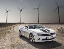 White Chevrolet Camaro 2012 - convertible
