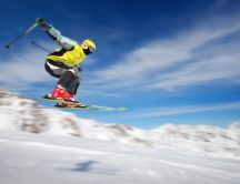 Ski jumping - super speed, winter sport