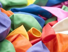 Many colorful deflated balloons HD wallpaper